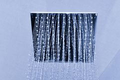 Nowożytna sufit prysznic w monochromu Fotografia Stock