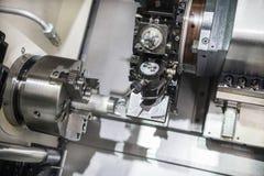 Nowożytna tokarska metalworking CNC maszyna Obrazy Stock