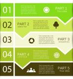 Nowożytna wektorowej informaci grafika dla biznesowego projekta Obrazy Stock