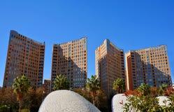 Nowożytna wysokiego budynku architektura w Walencja Zdjęcia Royalty Free