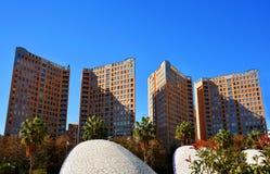 Nowożytna wysokiego budynku architektura w Walencja Zdjęcia Stock