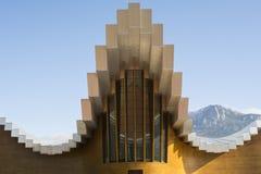 Nowożytna wytwórnia win Ysios w Laguardia, Baskijski kraj, Hiszpania Fotografia Royalty Free