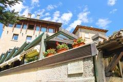 Nowożytne budynek restauracje w San Marino Fotografia Royalty Free