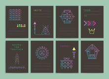 Nowożytne kreatywnie karty Obrazy Royalty Free