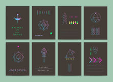 Nowożytne kreatywnie karty Obraz Stock