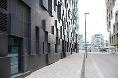 Nowożytne ulicy Oslo budynków scandinavian popularna architektura Zdjęcie Stock