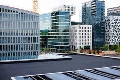 Nowożytne ulicy Oslo budynków scandinavian popularna architektura Obraz Stock