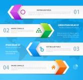 Nowożytnego projekta infographic szablon Zdjęcie Stock
