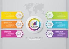 Nowożytnej 6 opcj prezentaci infographics biznesowy szablon zdjęcie stock