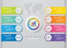 Nowożytnej 8 opcj prezentaci infographics biznesowy szablon fotografia royalty free
