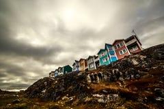 Nowożytni arktyczni Inuit domy Zdjęcie Stock