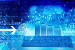 Nowożytni biznesowi wykresy i mapy Obrazy Stock