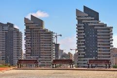 Nowożytni budynki mieszkalni w Ashdod, Izrael. Obrazy Royalty Free