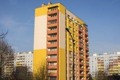 Nowożytni budynki mieszkaniowi w Krakow, Polska Fotografia Royalty Free