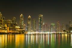 Nowożytni budynki w Dubaj, drapacz chmur architektury pustyni locat Fotografia Royalty Free