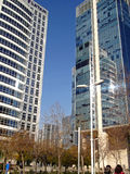 Nowożytni budynki w Santiago, Chile fotografia stock