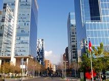 Nowożytni budynki w Santiago, Chile fotografia royalty free