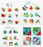 Nowożytni geometrycznego projekta temlates, cecha ogólna Obraz Royalty Free