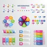Nowożytni infographic elementu i diagrama pliki Zdjęcia Stock