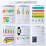 Nowożytni infographic wektorowi elementy dla biznesu royalty ilustracja