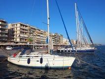 Nowożytni jachty, Volos, Grecja Obraz Royalty Free