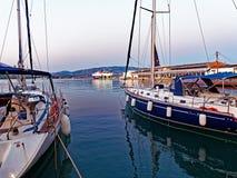 Nowożytni jachty, Volos, Grecja Zdjęcie Stock