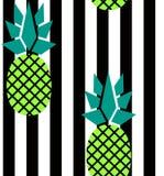 Nowożytni lampasy i ananasa wzór Ilustracja Wektor