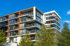 Nowożytni mieszkanie domy w Hamburg Obraz Royalty Free