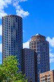 Nowożytni Round budynki w Boston Obraz Stock