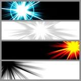 nowożytni sztandarów szablony Zdjęcia Royalty Free
