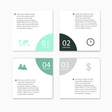 Nowożytni wektorowi abstrakcjonistyczni infographic elementy Obrazy Stock