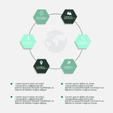 Nowożytni wektorowi abstrakcjonistyczni infographic elementy Fotografia Stock