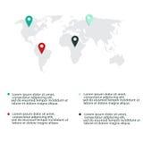 Nowożytni wektorowi abstrakcjonistyczni infographic elementy Zdjęcia Royalty Free