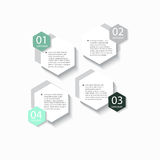 Nowożytni wektorowi abstrakcjonistyczni infographic elementy Zdjęcie Royalty Free