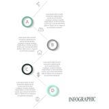 Nowożytni wektorowi abstrakcjonistyczni infographic elementy Obrazy Royalty Free