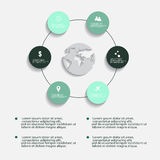 Nowożytni wektorowi abstrakcjonistyczni infographic elementy Obraz Royalty Free