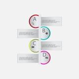 Nowożytni wektorowi abstrakcjonistyczni infographics elementy Fotografia Royalty Free