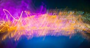 Nowożytny abstrakcjonistyczny ruchu sztandar na ciemnym tle Fotografia Royalty Free