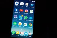 Nowożytny androidu smartphone menu Zdjęcie Royalty Free