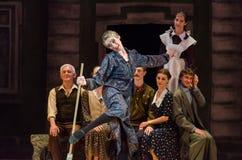 Nowożytny balet Ten tango w Czerwu Obraz Stock