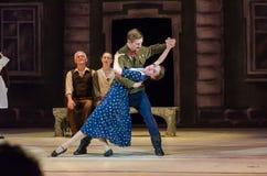 Nowożytny balet Ten tango w Czerwu Obraz Royalty Free