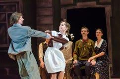 Nowożytny balet Ten tango w Czerwu Zdjęcia Royalty Free