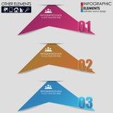 Nowożytny biznesowy infographics opci sztandar ilustracja wektor