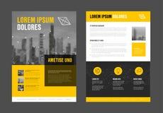 Nowożytny biznesowy korporacyjny broszurki ulotki projekta szablon Zdjęcia Royalty Free