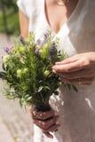 Nowożytny bridal bukiet Zdjęcia Stock