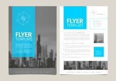 Nowożytny broszurka szablonu ulotki projekta wektoru szablon Zdjęcia Stock