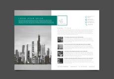 Nowożytny broszurka szablonu ulotki projekta wektoru szablon Obrazy Stock