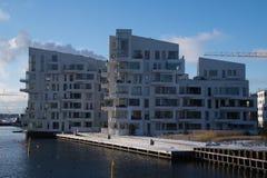 Nowożytny budynek mieszkaniowy, Kopenhaga, Dani Obraz Royalty Free