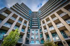 Nowożytny budynek mieszkaniowy przy Harbourfront w Toronto, Ontar Fotografia Royalty Free