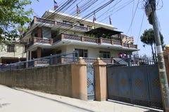 Nowożytny budynek w Kathmandu, Nepal fotografia royalty free
